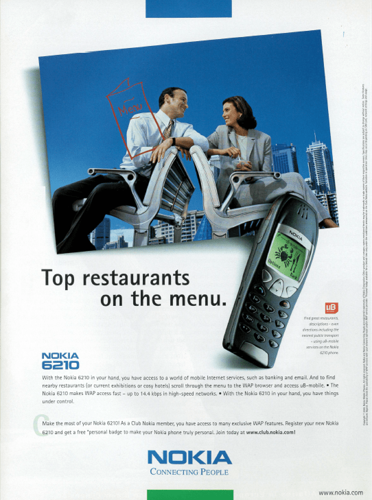nokia advertising for ub mobile on the economists