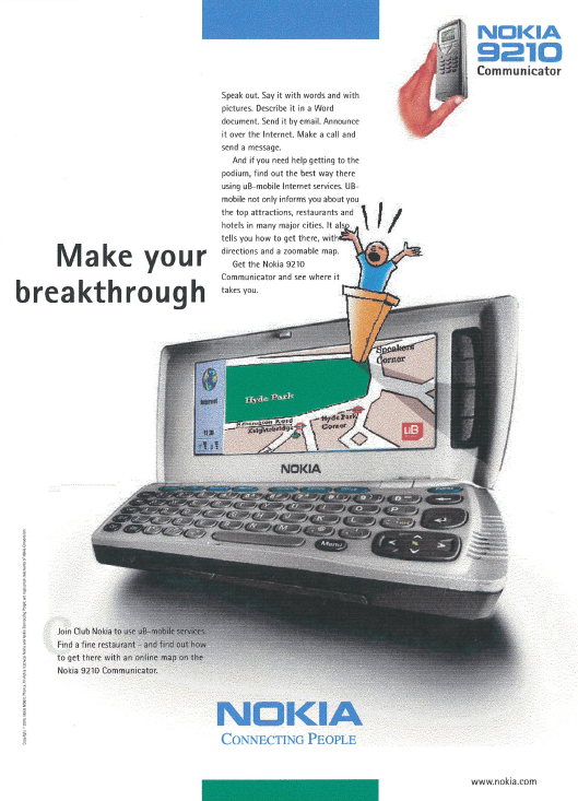 nokia advertising for ub mobile internet services